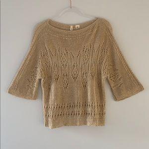 Anthropologie Moth 100% Linen Knit Top